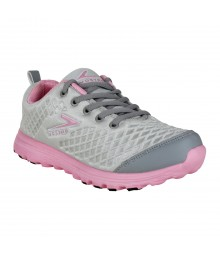Vostro Grey Pink Sports Shoes for Women - VSS0252